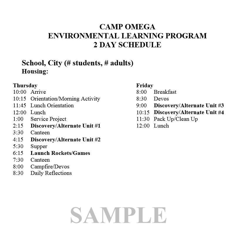 sample-schedule
