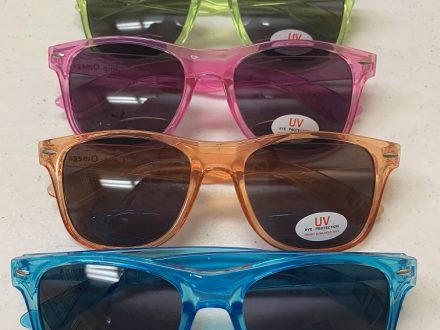 Malibu Sunglasses (Translucent blue, orange, pink, lime & clear) $5