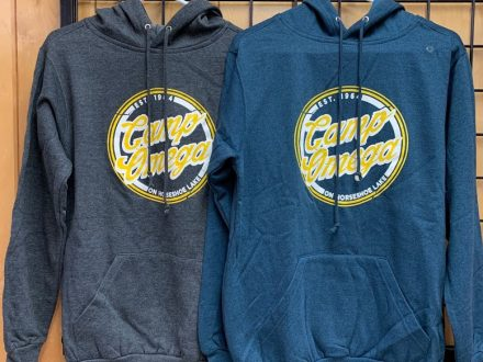 Retro Heather Hoodie (Charcoal Heather & Dark Teal) $25